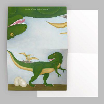 Die Dinosaurier habe ich endlich fertig … und so sind meine Ölbilder als Grundlage entstanden!
